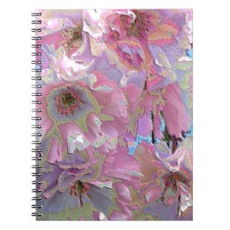 Kwanzan East Asian Cherry Blooms Spiral Note Book
