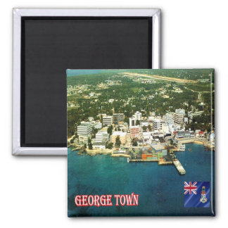 KY - Cayman Islands - George Town An Aerial View Square Magnet