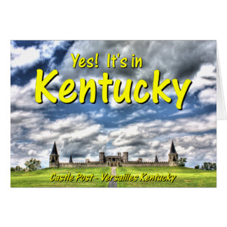 KYCA102.Castle Post - Versailles Ky. Card