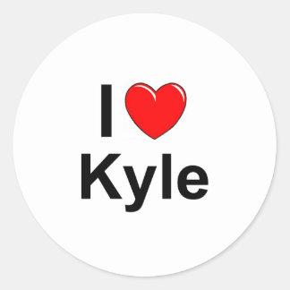 Kyle Classic Round Sticker