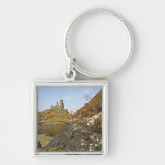 Kyleakin, Scotland. The ancient ruins of Silver-Colored Square Key Ring