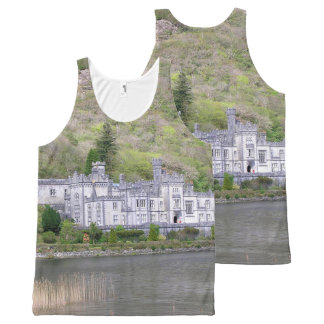 Kylemore Abbey Castle in Ireland All-Over Print Singlet
