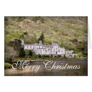 Kylemore Abbey Castle in Ireland Blank Christmas Card
