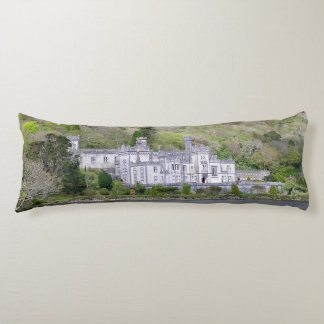Kylemore Abbey Castle in Ireland Body Cushion