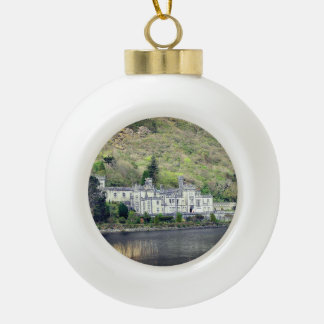 Kylemore Abbey Castle in Ireland Christmas Ceramic Ball Christmas Ornament