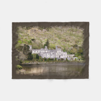 Kylemore Abbey Castle in Ireland Fleece Blanket