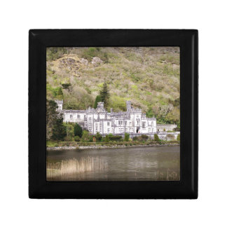 Kylemore Abbey Castle in Ireland Small Square Gift Box