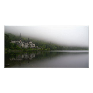 Kylemore Abbey in the clouds, Connemara Photo Card