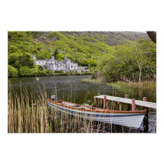 Kylemore Abbey, Ireland. Kylemore Abbey is Poster