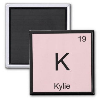 Kylie  Name Chemistry Element Periodic Table Square Magnet