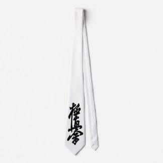 Kyokushin Karate Japanese Kanji Neck Tie