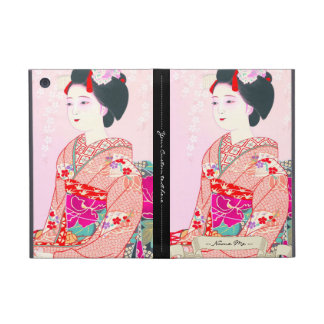 Kyoto Brocade, Four Leaves - Spring japanese lady Cover For iPad Mini
