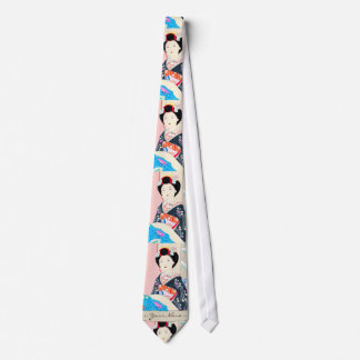 Kyoto Brocade, Four Leaves - Winter japanese lady Tie