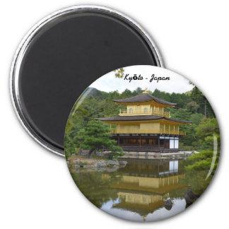 Kyōto Kyoto - Japan golden pavilion Kinkaku ji 6 Cm Round Magnet