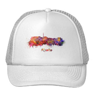 Kyoto skyline in watercolor cap