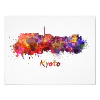 Kyoto skyline in watercolor photo print