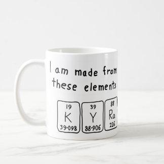 Kyra periodic table name mug