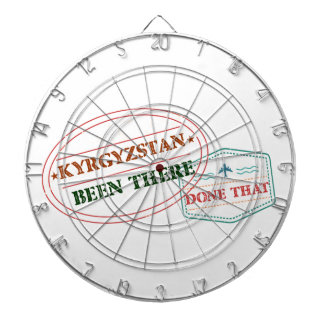 Kyrgyzstan Been There Done That Dartboard