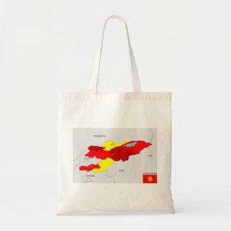 kyrgyzstan country political map flag tote bag