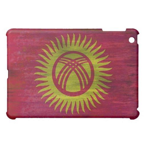 Kyrgyzstan distressed flag iPad mini cases