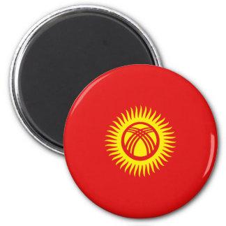 Kyrgyzstan Fisheye Flag Magnet