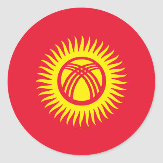 Kyrgyzstan Flag Classic Round Sticker