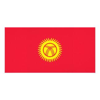 Kyrgyzstan Flag Customised Photo Card