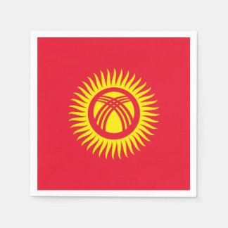 Kyrgyzstan Flag Disposable Serviette