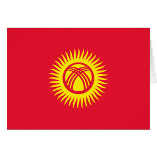 Kyrgyzstan Flag Note Card
