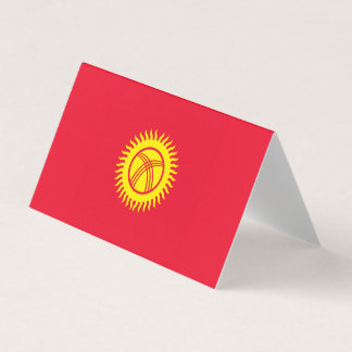 Kyrgyzstan Flag Place Card