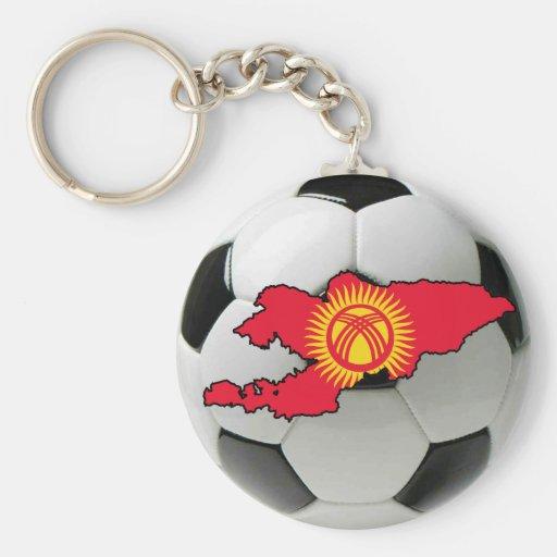 Kyrgyzstan football soccer key chain