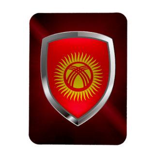 Kyrgyzstan Metallic Emblem Magnet