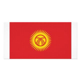 Kyrgyzstan National Flag Custom Photo Card