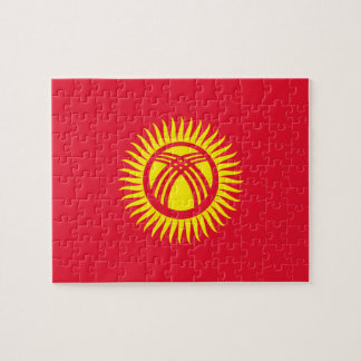 Kyrgyzstan National World Flag Jigsaw Puzzle