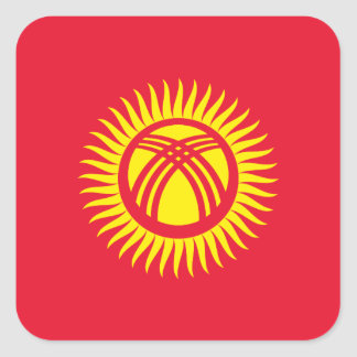 Kyrgyzstan National World Flag Square Sticker