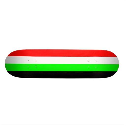 Kyrgyzstan (Proposed), Kuwait flag Skateboard Deck
