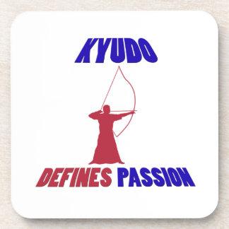 Kyudo design coasters