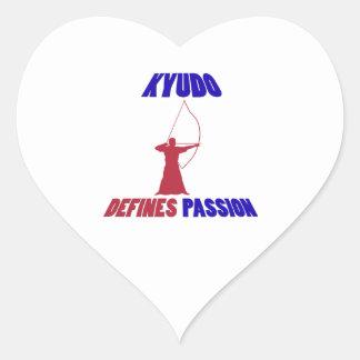 Kyudo design heart sticker
