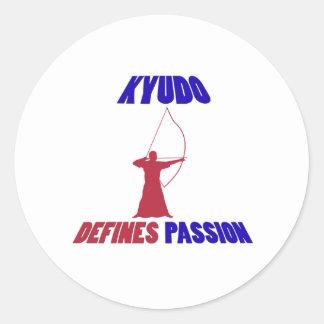 Kyudo design round sticker