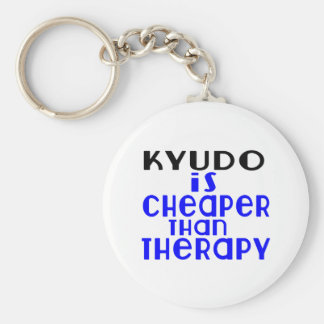Kyudo Is Cheaper  Than Therapy Basic Round Button Key Ring