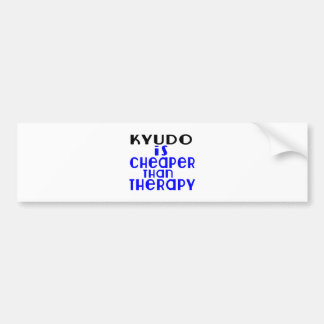 Kyudo Is Cheaper  Than Therapy Bumper Sticker