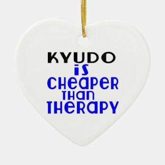 Kyudo Is Cheaper  Than Therapy Ceramic Ornament