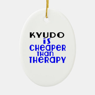 Kyudo Is Cheaper  Than Therapy Ceramic Oval Decoration