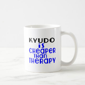 Kyudo Is Cheaper  Than Therapy Coffee Mug