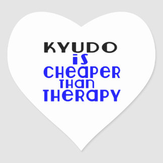 Kyudo Is Cheaper  Than Therapy Heart Sticker