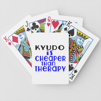 Kyudo Is Cheaper  Than Therapy Poker Deck
