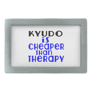 Kyudo Is Cheaper  Than Therapy Rectangular Belt Buckles