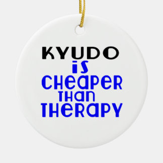 Kyudo Is Cheaper  Than Therapy Round Ceramic Decoration