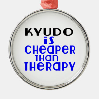Kyudo Is Cheaper  Than Therapy Silver-Colored Round Decoration