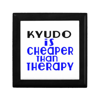Kyudo Is Cheaper  Than Therapy Small Square Gift Box